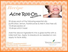 to Use Essential Oils for Acne essential oil acne roll-on (note for doTERRA users Purify is similar to Purification)essential oil acne roll-on (note for doTERRA users Purify is similar to Purification) Purification Essential Oil, Doterra Essential Oils, Essential Oil Blends, Yl Oils, Laundry Essential Oils, Cystic Acne Essential Oil, Young Living Oils, Young Living Essential Oils, Young Living Acne