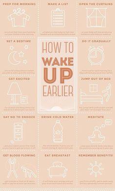 Dicas para acordar cedo!