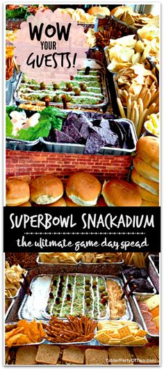 A Superbowl Snackadium is the perfect way to serve your guests at the big game! Learn how to make one here.