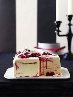 White chocolate and raspberry-ripple ice-cream cake: Been sitting on this recipe for a while, just waiting for the right occasion.