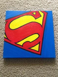 Superman Canvas: I can totally make one of these.  Or Batman