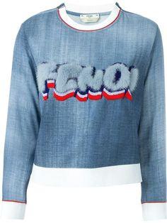 FENDI Fur Logo Sweatshirt. #fendi #cloth #sweatshirt