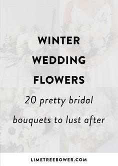 Winter Wedding Flowers - 20 Pretty Bridal Bouquets to Lust After — Lime Tree Bower Winter Wedding Flowers, Bridal Bouquets, Floral Arrangements, Lust, Floral Design, Pretty, Tips, Wedding Bouquets, Advice