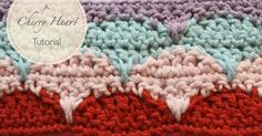 How to crochet the Cherry Heart Clamshell Pattern.
