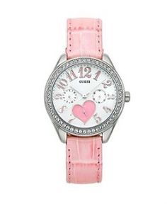 Heart Pink Strap Watch