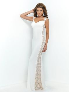 ff85aa14f2 Blush Prom 9924 White Sweetheart Jeweled Ivory Straps Low Back Gown 2015 Prom  Dresses. Kiara Palmeri · Dress