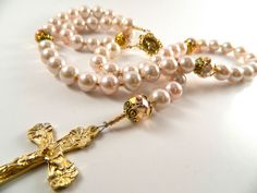 Rosary Great for Baptism Communion Confirmation by gr8byz on Etsy, $20.00