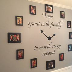 Time Spent with Family Decal - Time Spent with Family Clock Decal Family Clock Decal- Time Spent with Family Wall Decal Family Clock, Family Wall Decor, Room Wall Decor, Family Tree Wall, Teacher Signs, Picture Wall, Photo Wall, Wall Decals, Diy Home Decor