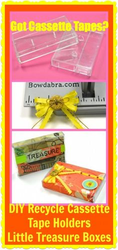 Hello! What a perfect idea for those Cassette tape boxes!  Kids Craft: Recycle Cassette Tape Holders into Little Treasure Boxes