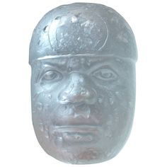 Pedro Ramirez Vázquez Mercury Glass Olmec | From a unique collection of antique and modern sculptures at https://www.1stdibs.com/furniture/decorative-objects/sculptures/
