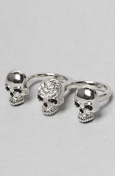 nice Soho Collection The Two Finger Skull Ring,Jewelry for Women