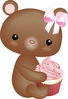 osito y cupcake
