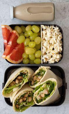 Easy Vegan Lunch, Vegan Lunch Recipes, Lunch Meal Prep, Healthy Meal Prep, Healthy Drinks, Healthy Snacks, Healthy Eating, Healthy Recipes, Healthy Lunches For School