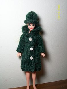 Ravelry: Raglan Cardi / Coat & Hat Pattern for Dawn Doll of the Topper Toy Corporation pattern by Pam Renfro