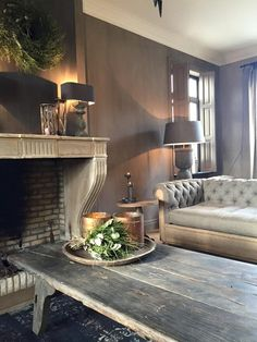 Love this.loe fireplace design, fireplace mantels, fireplaces, home and living Dream House Interior, Gray Interior, Interior Design, My Living Room, Home And Living, Living Room Decor, Fireplace Design, Fireplace Mantels, Home And Deco
