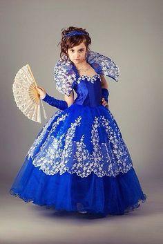 Очень красивое платье для девочки, королева бала, синее - Детская одежда во Владивостоке