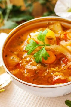 Cabbage Fat Burning Soup Recipe