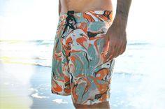 Beach vibin'.  Preview of Brixton Summer 14 boardshorts in Sun Diego Boardshops Lookbook.