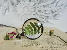 Pendants – Fern Forest necklace, Terrarium Fern Jewelry – a unique product by…
