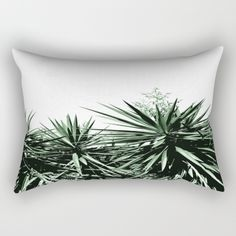 "Yucca Rectangular Pillow by ARTbyJWP #throwpillow #pillow #cushion #pillowcover #pillowcase #yucca #cactus #minimal #boho ______ Our Rectangular Pillow is the ultimate decorative accent to any room. Made from 100% spun polyester poplin fabric, these ""lumbar"" pillows feature a double-sided print and are finished with a concealed zipper for an ideal contemporary look. Includes faux down insert. Available in small, medium and large."
