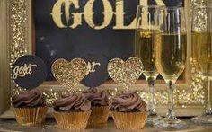 festa preto e dourado decoração - Pesquisa Google