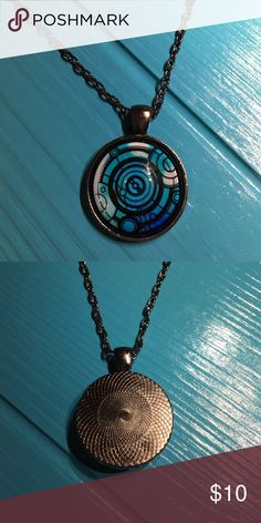 """Doctor Who Gallifreyan Necklace The Doctor Who themed Pendant is on a 24"""" inch chain. Jewelry Necklaces"""