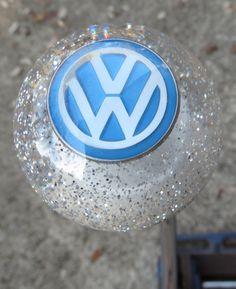 Sparkle Silver VW Volkswagen Logo Shift Knob - HouseOspeed - Hot Rod Shift Knob