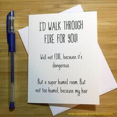 Funny Friendship Card, Best Friend Card, Cute Love Card, Anniversary Card, Love Greeting Cards, BFF Card, Romantic Card, Card for Husband