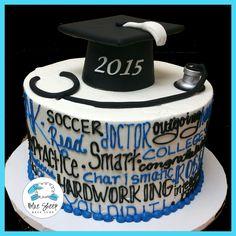 Buttercream Expressions Graduation Cake