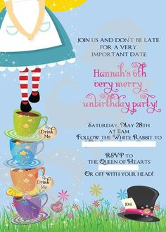 """Photo 48 of 72: Alice in Wonderland, Mad Tea Party / Birthday """"Hannah's 6th Very Merry Unbirthday """" 