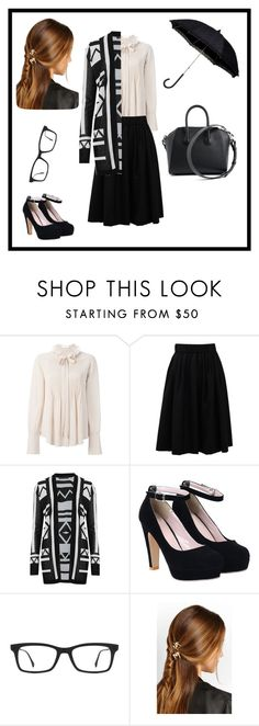 """Untitled #99"" by meraza on Polyvore featuring Chloé, Brunello Cucinelli, M&S Collection, Ray-Ban, Rosantica, Givenchy, women's clothing, women's fashion, women and female"