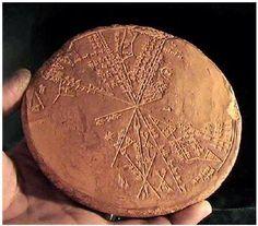 Sumerian astrological disc.