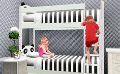 My Sims 3 Blog: Panda Bunk Beds by PauleanR