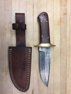 Custom Handmade Damascus Steel Knife Bushcraft Hard Wood Handle Hunting Knives 5690054903751 | eBay