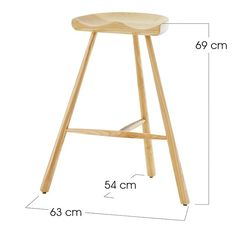 Tripod Bar Stool - Bar Stools and Tables - Dining - Products - Blue Sun Tree