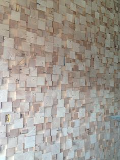 wood block wall design | • w a l l • c a n d y• | pinterest