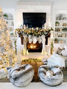 Christmas Home Tour Modern Farmhouse Glam with Silver and Gold - My Texas House Christmas Mantels, Christmas Home, Christmas Decorations, White Christmas, Christmas Ideas, Gold Party Decorations, Christmas Planning, Christmas Fireplace, Christmas Signs
