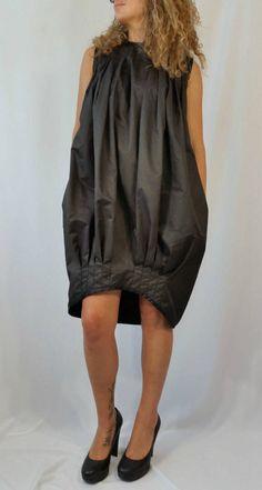 Black Oversize Extravagant Caftan / Black Asymmetrical Tunic Dress / Hi Low Women Fashion Dress
