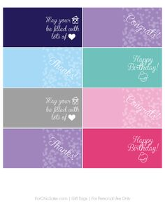 Free customizable candle printables {For Chic Sake}