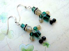 Leprechaun Earrings, Swarovski Earrings, Irish Earrings, St. Patrick's Day…