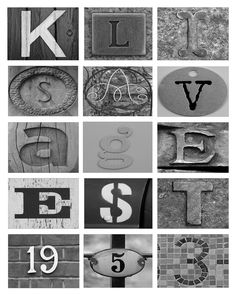 I totally love the art where objects spell out letters.     You know, this stuff        Photo Credit     But with an average price of $7 a ...