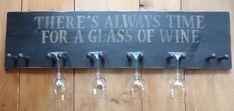 Wine Glass Holder Wine Glass Rack Stenciled Wine Glass Racks Bar Sign Rustic Sign Home Decor Primitive Wine Glass Rack Uncork and Unwind Wine Signs, Bar Signs, Wood Wine Holder, Wine Holders, Non Alcoholic Wine, Wine House, Wine Craft, Wine Glass Holder, Expensive Wine