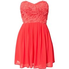Elise Ryan Cornelli Lace Dress (180 BRL) ❤ liked on Polyvore featuring dresses, vestidos, robes, coral, party dresses, womens-fashion, lace cocktail dress, red cocktail dress, embellished dress and tall dresses