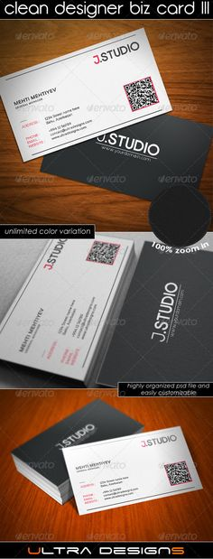 "Clean Designer Business Card III  #GraphicRiver        Specifications:   Highly Organized and Layered PSD files  100% Customizable and Editable  CMYK Color Profile  300 DPI High Resolution  3.5"" x 2""(3.75"" x 2.25"" with bleed settings)  Font Used: Sansation, Coamei and Opificio  Files Included in the project:    1 PSD file  1 Readme text file   Also if you don't have a software or time to customize it i can do that for you only for a small fee! Just drop me a line through my profile page. 	…"