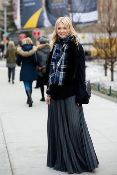 long skirt  sweater
