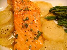 Roasted salmon with herb vinaigrette (From Essential New York Times Cookbook)