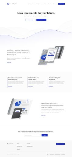 Financial landing page concept