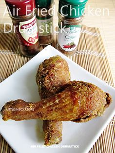 Little Inbox Recipe ~Eating Pleasure~: Air Fried Spiced Chicken Drumsticks (Air-Fryer Recipe) Actifry Recipes, Oven Recipes, Air Fryer Recipes, Cooking Recipes, Recipies, Fried Chicken Drumsticks, Cooks Air Fryer, Air Fried Food, Recipes