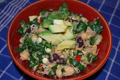 Dinner - Fiesta bean Salad with Basil Lime Dressing