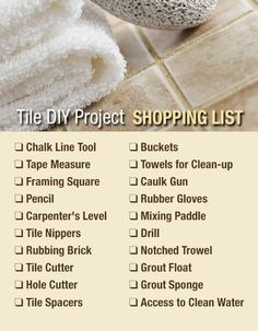 Tips on how to start your tile DIY project.